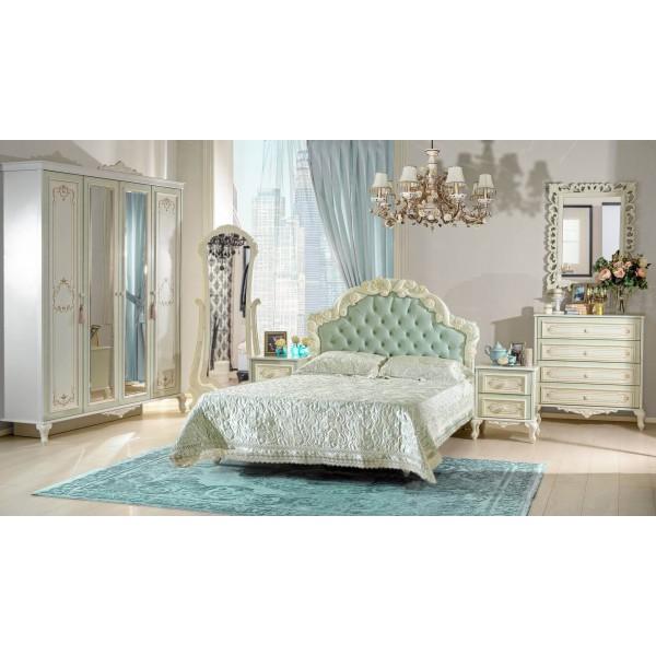 Детская спальня №1 Луиза (Алебастр/Мятный)