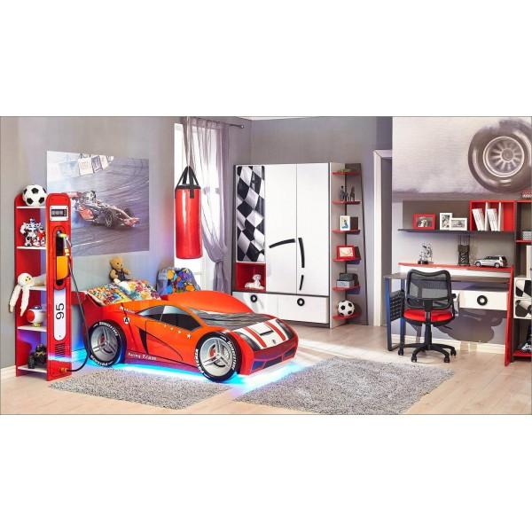 Детская спальня №1 Формула (Скала/Белый/Красный)