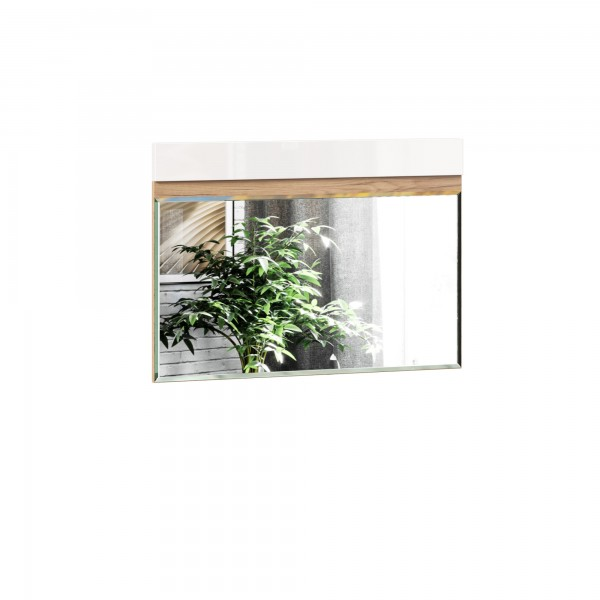 Зеркало настенное 890 Фиджи (Дуб Золотой/Белый)