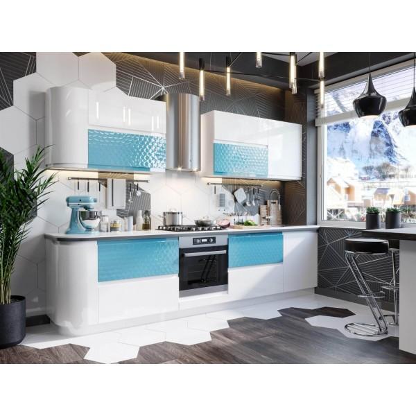 Модульная кухня Айсберри Аквайт (Белый/Белый глянец)