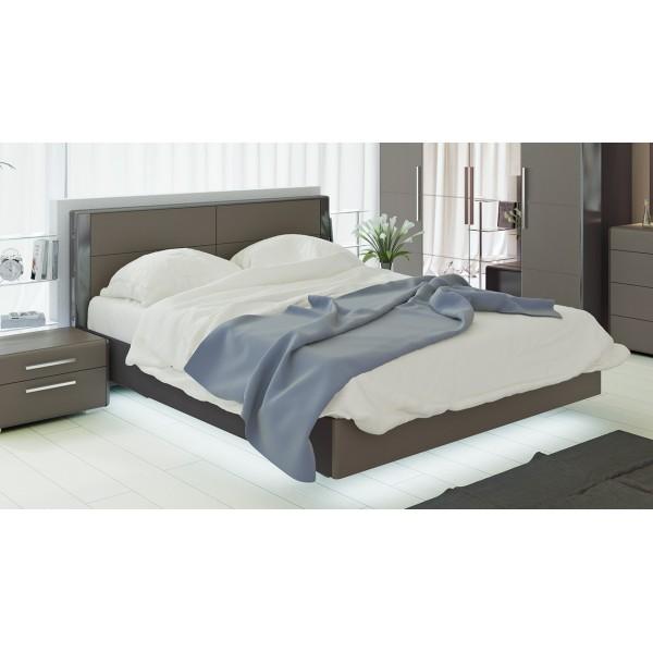 Двуспальная кровать «Наоми» (Фон серый, Джут)