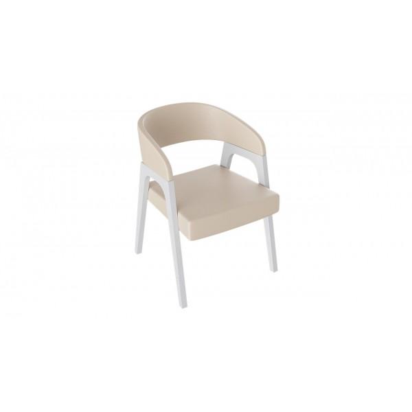 Кресло «Техас 1» (Белый матовый/тк № 67)