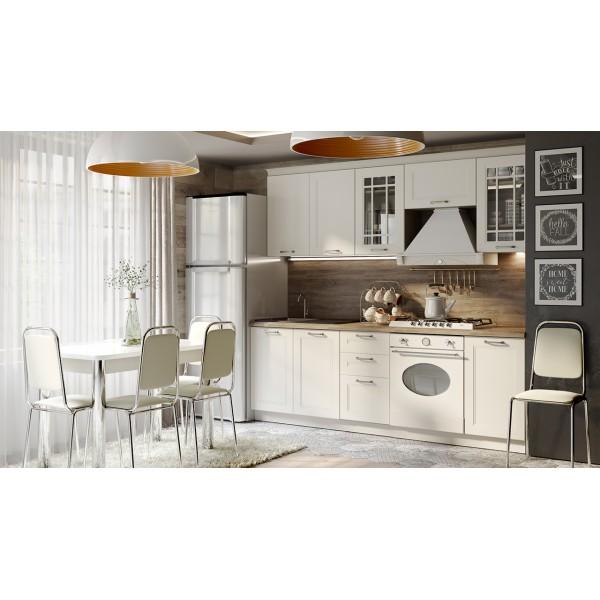 Кухонный гарнитур «Одри» №2 (ОДРИ (Бежевый шелк))