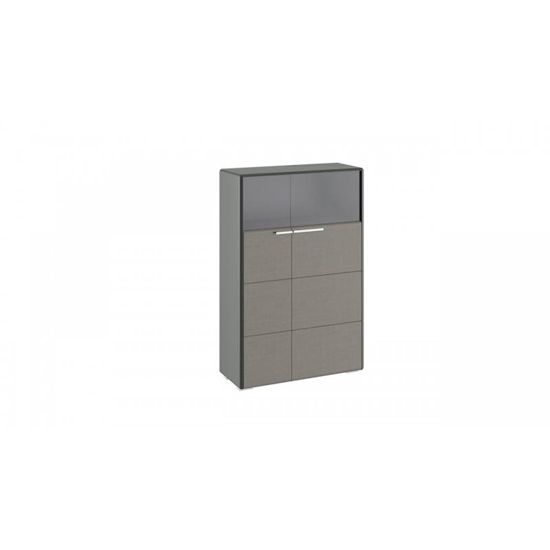 Шкаф комбинированный с 2-мя дверями «Наоми» (Джут, Фон серый)