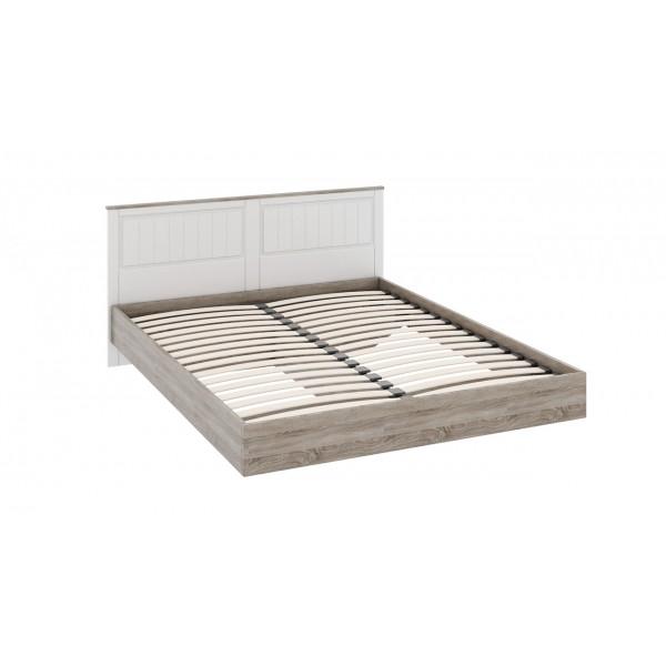 Двуспальная кровать «Прованс» (Дуб Сонома трюфель/Крем)