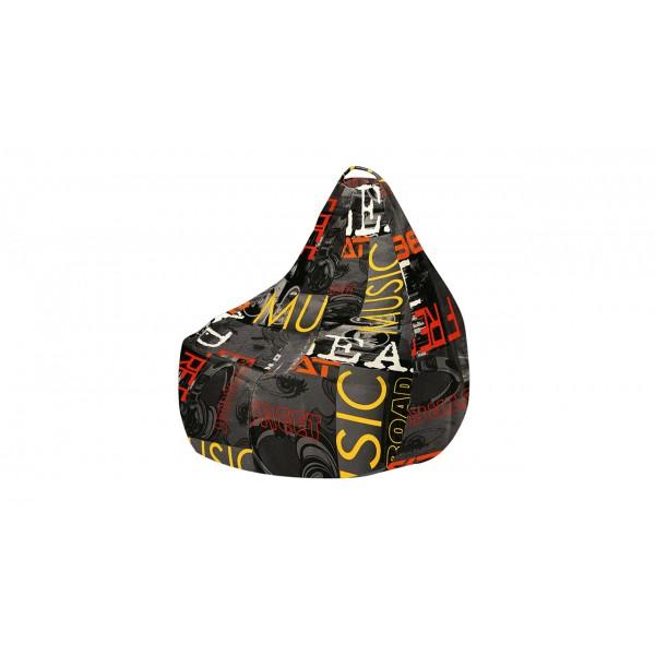 Кресло-мешок «Купер» XL (Серый граффити, Люкс)