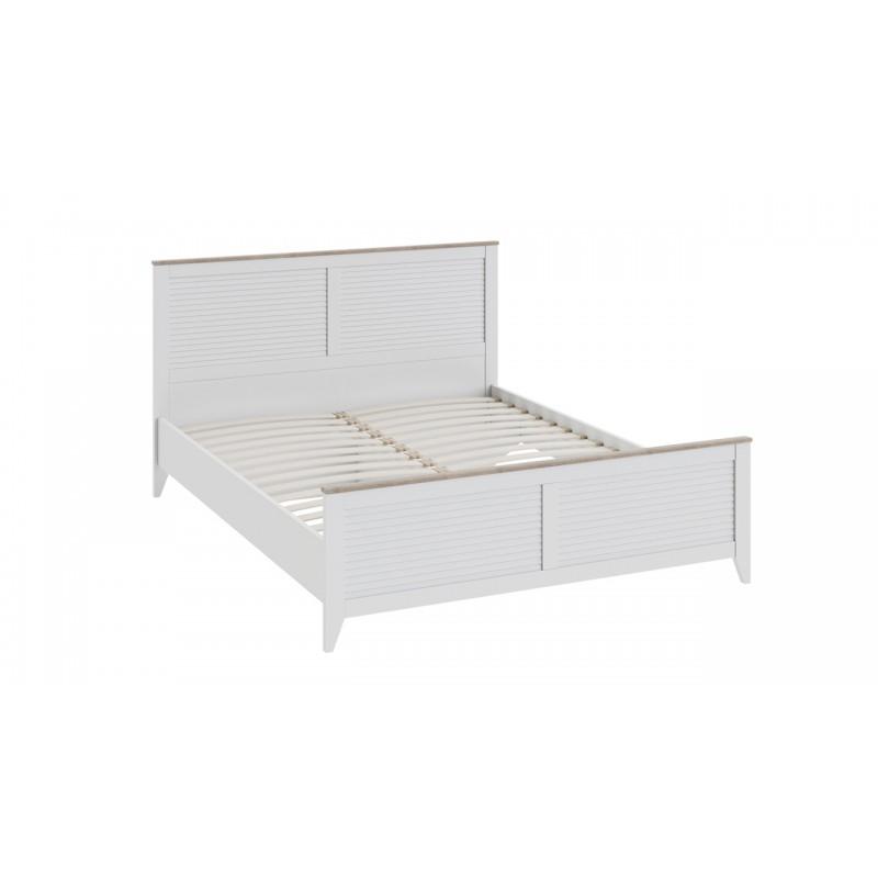 Двуспальная кровать «Ривьера» (Дуб Бонифацио/Белый)