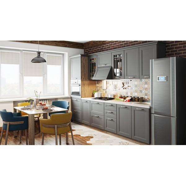 Кухонный гарнитур «Одри» №4 (ОДРИ (Серый шелк))