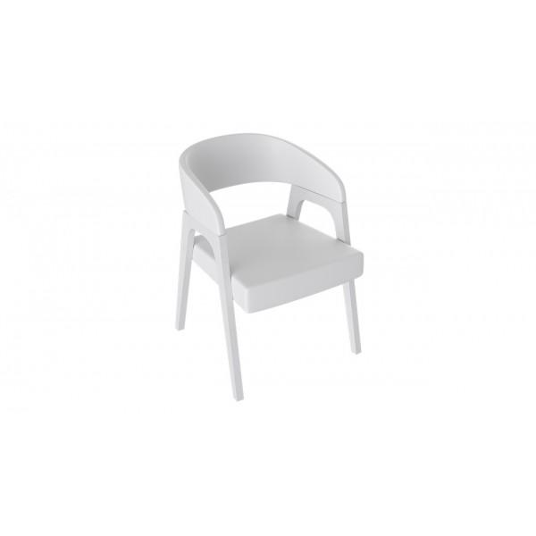 Кресло «Техас 1» (Белый матовый/тк № 66)