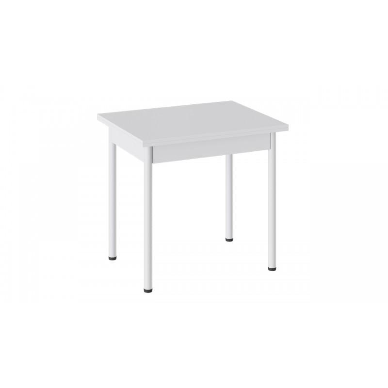 Стол «Родос» Тип 2 с опорой d40 (Белый муар/Белый)